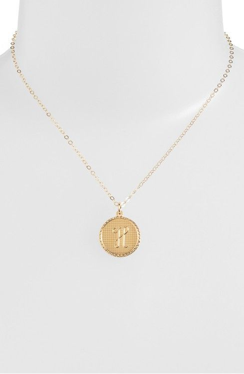 Main Image - Moon and Lola 'Dalton' Initial Pendant Necklace