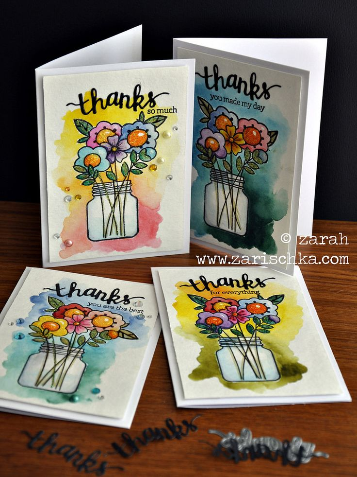 Just a set of Thank You cards using Paper Smooches stamps, a Hero Arts die, water colour technique and distress inks. :)  Adding this into the PS Sparks challenge Anything Goes papersmoochessparks.blogspot.se/2015/08/august-2-8-anythi... and the Simon Says Stamp Anything Goes-challenge as well. www.simonsaysstampblog.com/wednesdaychallenge/simon-says-... :)