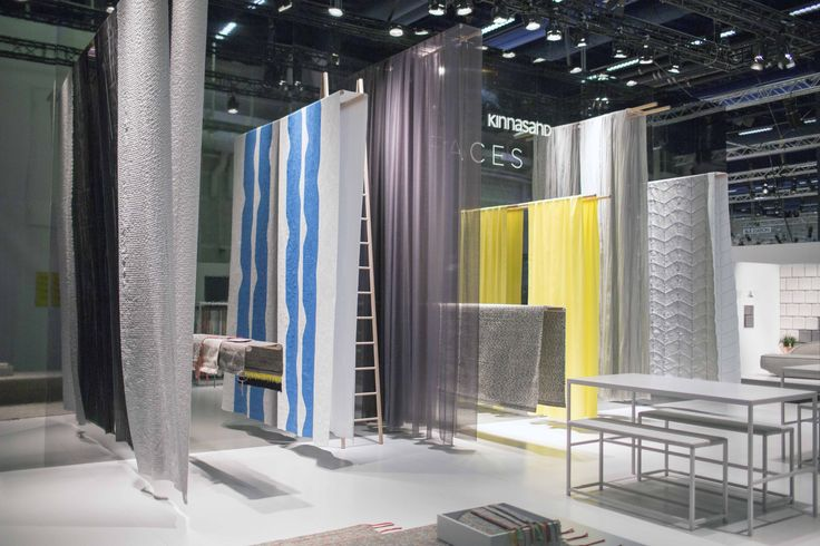 Kinnasand presents its FACES collection, a family of colourful curtains and carpets, at Stockholm Furniture Fair 2015. #stockholmfurniturefair #sthlmfurnfair #showingscandinavia