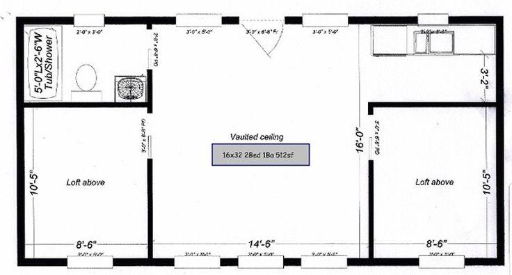 Floor plan for 16x32 2bedroom 1bath cabin 16x32 floor - Upload floor plan and design free ...