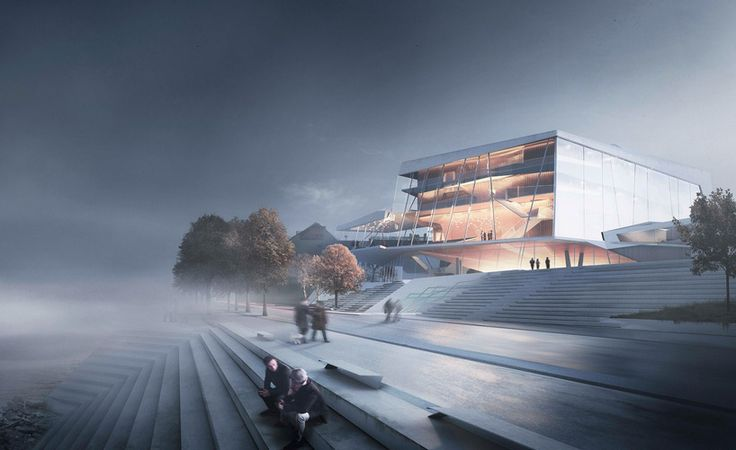 snøhetta blends building and landscape for beethoven concert hall competition