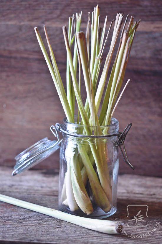 Lemongrass stalks.