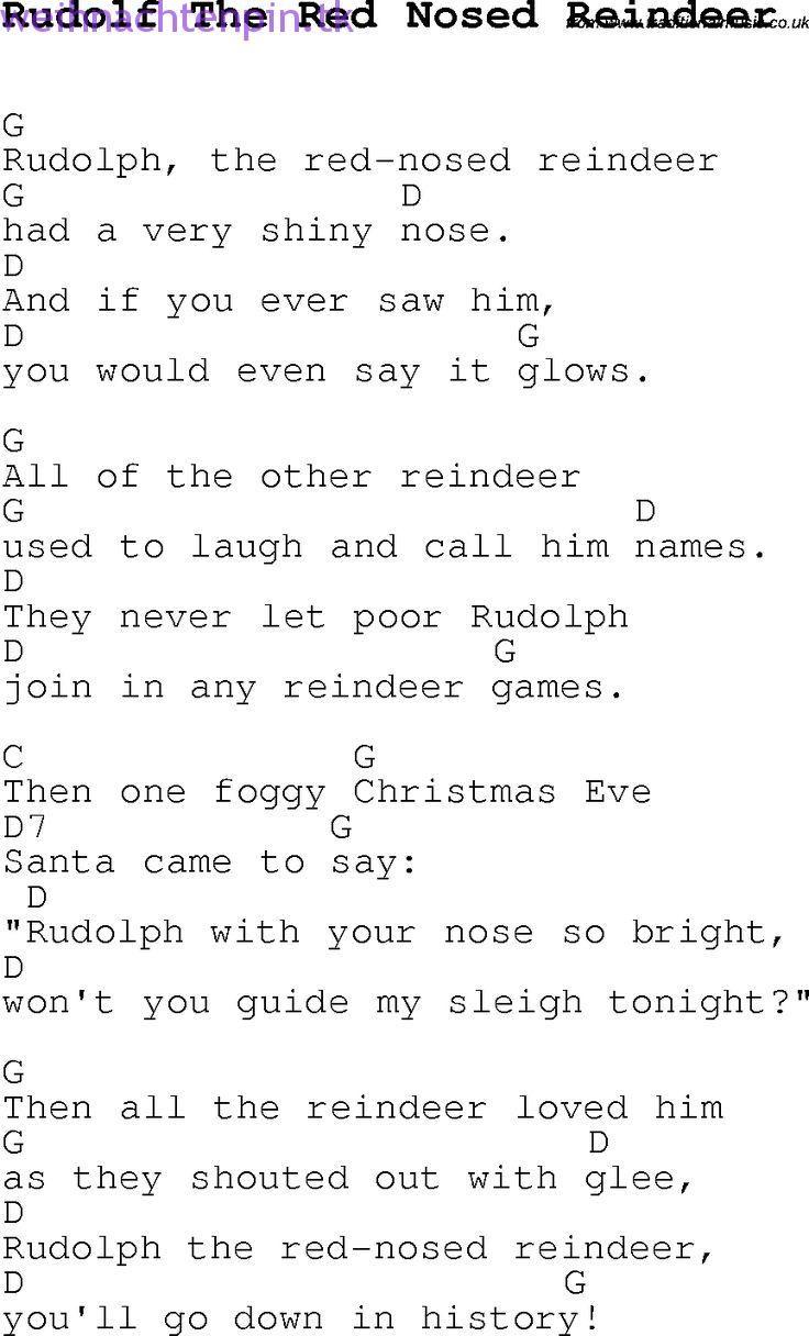 Weihnachtslieder und lieder, Texte mit Akkorden für