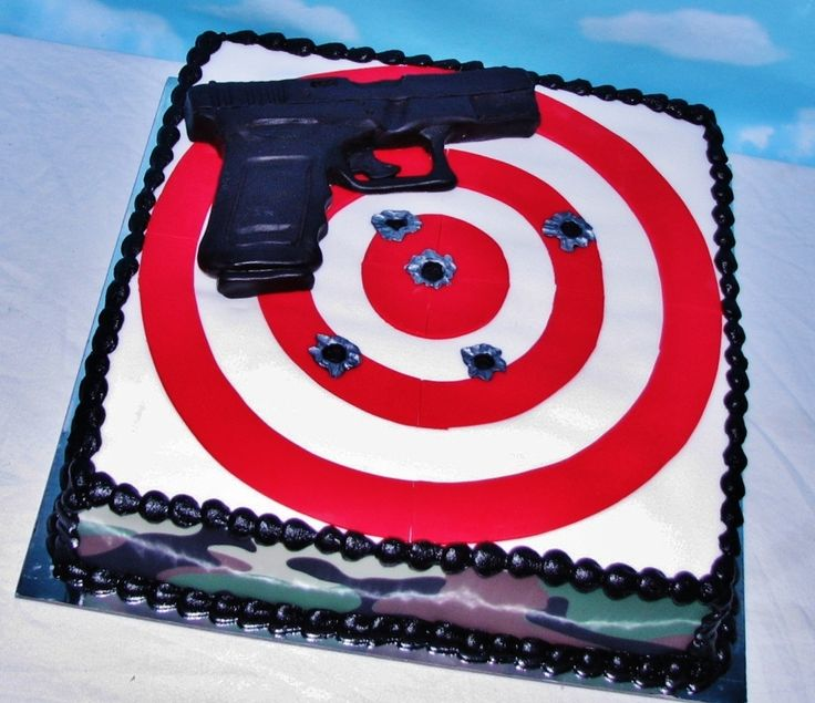 Gun Cake Decorating Ideas : Best 25+ Gun cakes ideas on Pinterest Cake decorating ...