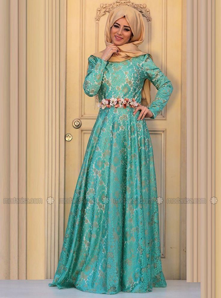 Hedil Abiye Elbise - Mint Yeşili - Zehrace