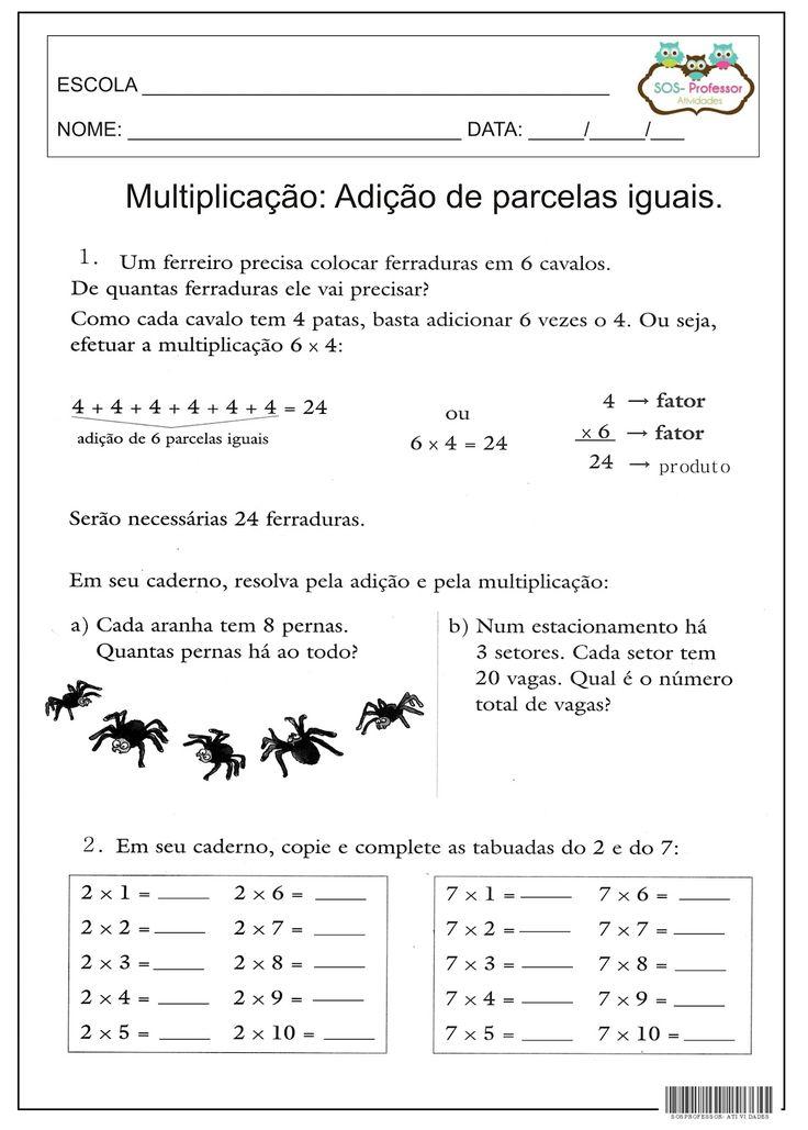 SOS PROFESSOR-ATIVIDADES: Ideias da multiplicação                              …