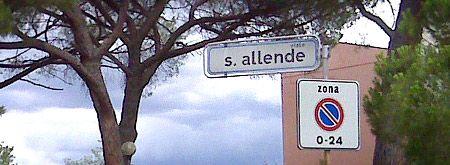 viale Salvador Allende - via Camilo Torres. Cecina, Livorno. Italia