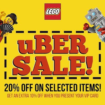 Lego uBER SALE: Up To 20% Off On Selected Items #DealsPinoy