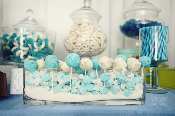 How to make cake popsCandies Display, Red Velvet Cake, Candies Buffets, Tiffany Blue, Cake Pop, Blue Cake, Parties Ideas, Candies Bar, Baby Shower