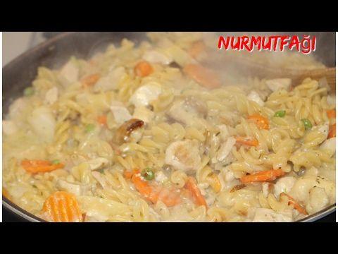 Kendi sosunda pişen sebzeli kremalı makarna tarifi tek kelime ile nefisss- Nurmutfağı - YouTube