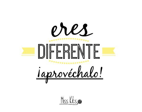 Eres diferente ¡Aprovéchalo! #ManifiestoDIY