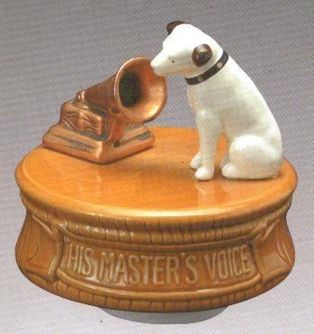 "Nipper - ""His Master's Voice"" music box"