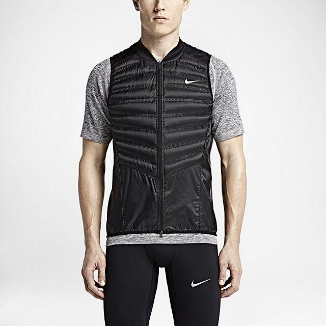 Nike Aeroloft 800 Men's Running Training Vest Size X-Large Black