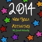 Free Download: New Year's Activity Packet that includes:  My 2014 New Year's Resolution Sheet Remembering 2013 2014 Flipbook All About Me in 2014 H...