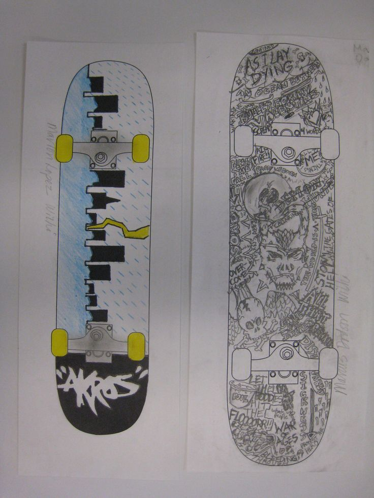Middle school students love to design skateboards..I provide a template.