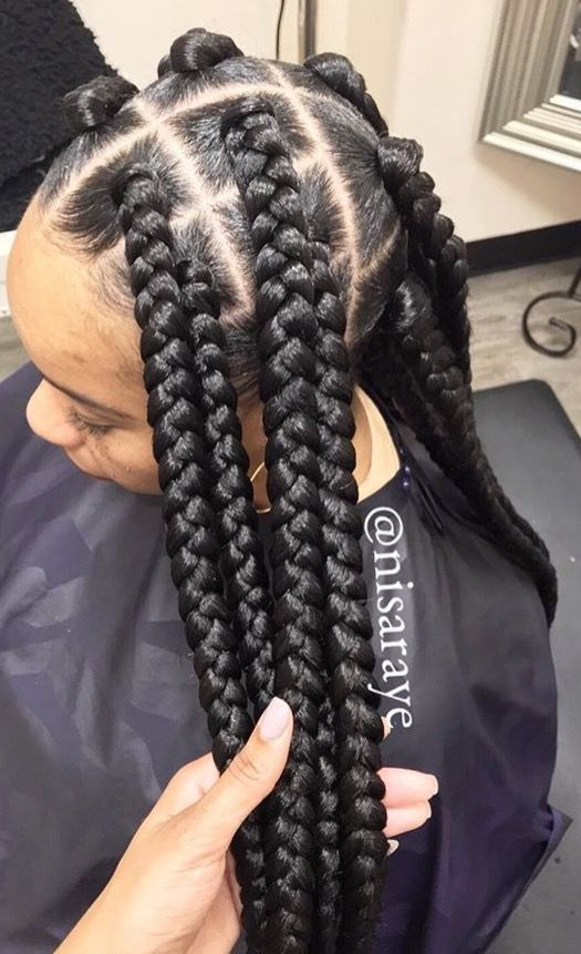 254 Best Jumbo Braids Images On Pinterest Natural Hair