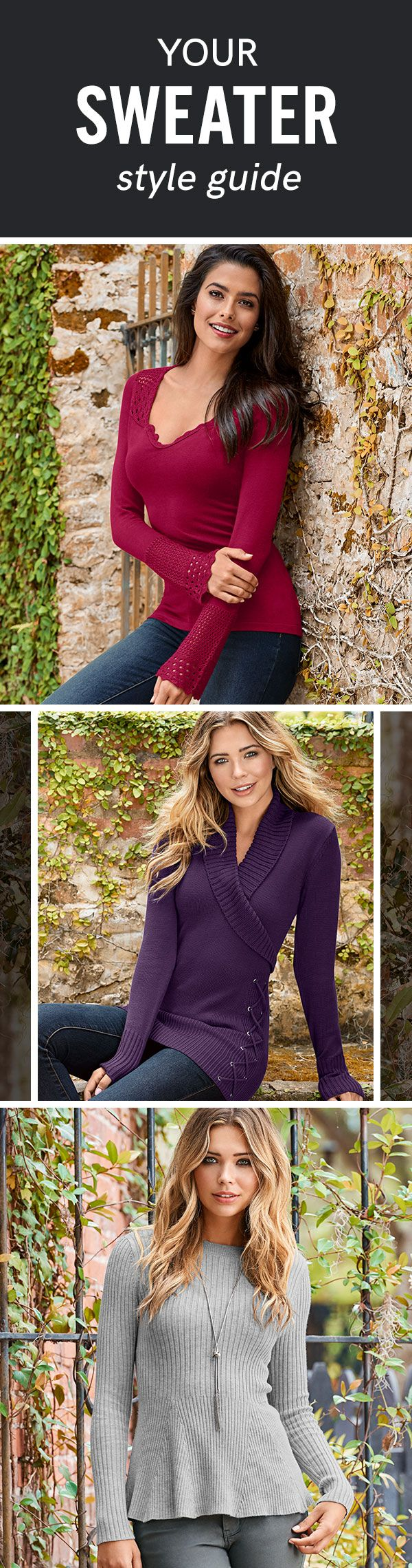 Which style is your favorite? Find these and more in our Sweater Shop Collection!