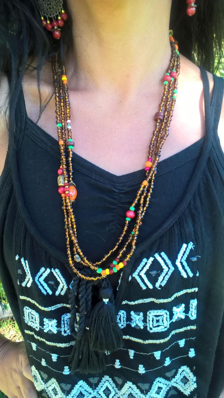 Tribal African Necklace, African Beaded Necklace, Ethnic Beaded Necklace, AhyokaByBernice on Etsy, Hand Made in South Africa by AhyokaByBernice on Etsy
