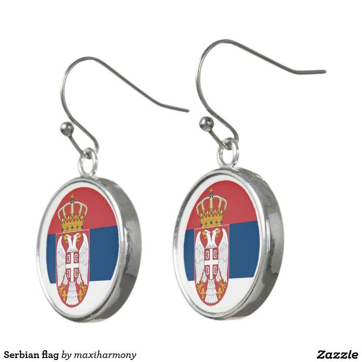 Serbian flag earrings