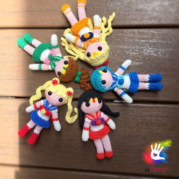 Muñecas Sailor Moon Amigurumi hecho a mano