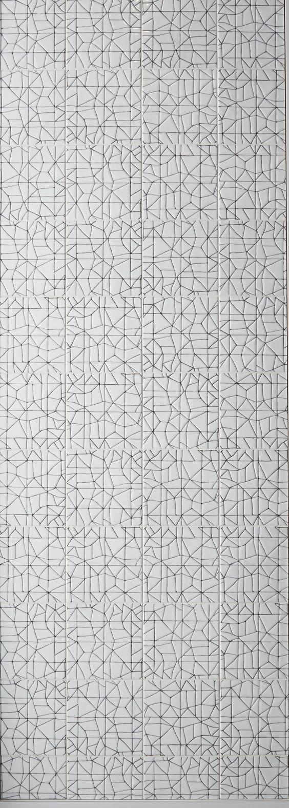 KELLY WEARSTLER X ANN SACKS. 'Maven Breakwater' ceramic tiles: