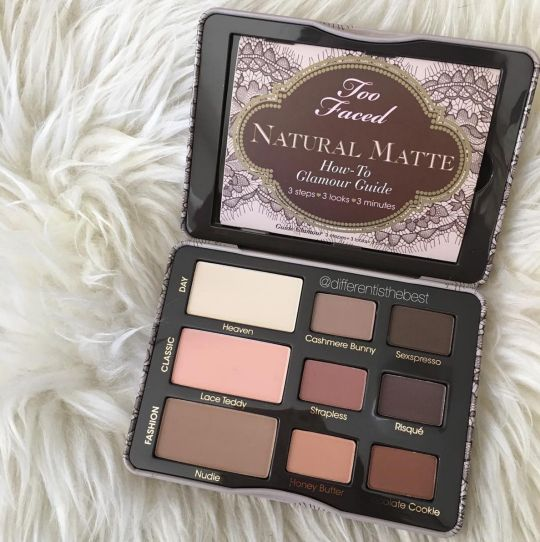 Too Faced Natural Matte palette. the prettiest matte shades.