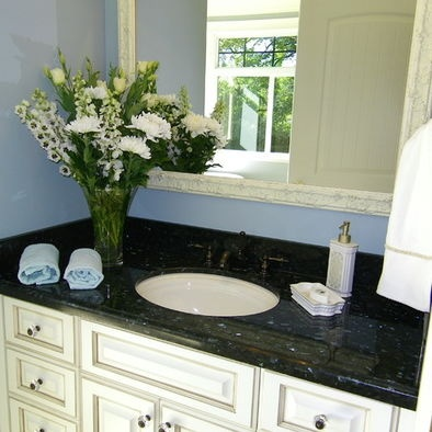 Black Pearl Granite And Bronze Oil Rubbed Faucet Granite