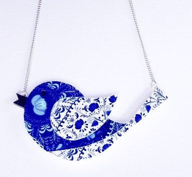 Perspex / Acrylic Blue bird Necklace / Perspex Jewelry / Acrylic Jewellery / Bird Jewelry / Gifts for Her / Gifts for Women / Gifts for Girl by DezignzbyDot on Etsy https://www.etsy.com/au/listing/254438696/perspex-acrylic-blue-bird-necklace