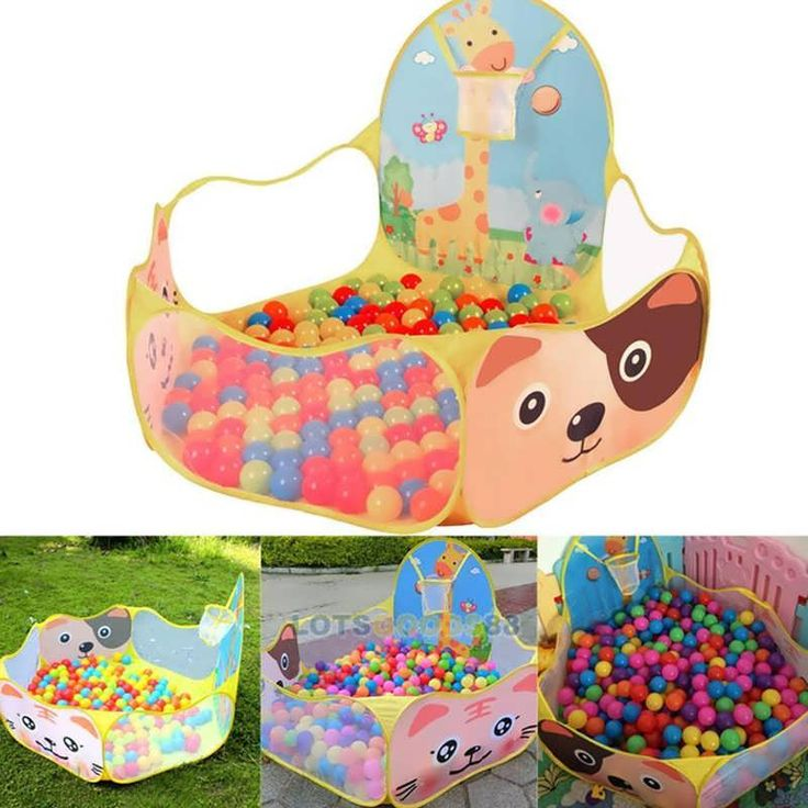 "Portable Ocean Ball Pit Pool Outdoor Indoor Kids Pet Game Play Children Toy Tent         Description: Color: as the picture shown Material: polyester cloth Weight: about 340g Patterns on the Tent: cat, dog, etc.(Random) Size: about 38 x 60 x 75 x 120cm/14.96"" x 23.62"" x 29.53"" x..."
