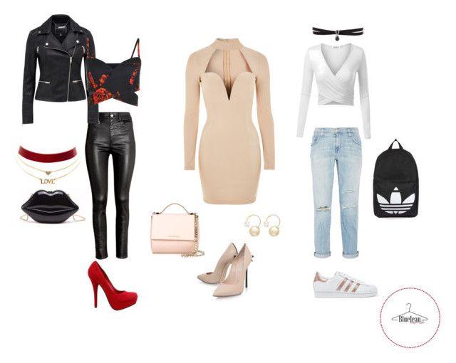 """Reloj de Arena"" by maria-belen-aguirre on Polyvore featuring moda, H&M, Rare London, Casadei, Current/Elliott, adidas Originals, Topshop, Givenchy, Fallon y Charlotte Russe"