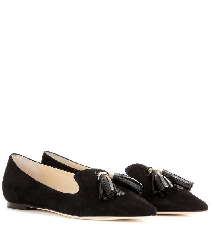 Gabby black suede slippers