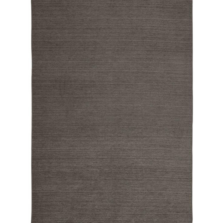 Solid Rich Grey 5 ft. x 7 ft. Pet Friendly Extra Washable Area Rug Cover for 2-Piece System
