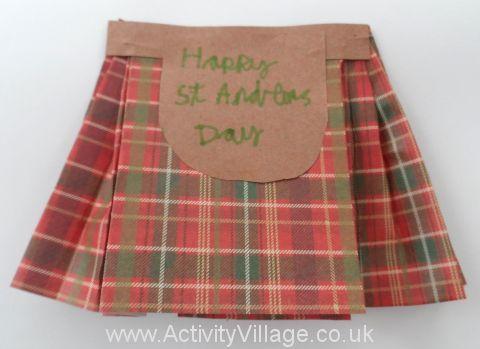 Make a Scottish Kilt Card
