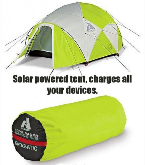 Tienda Accionada Solar - carga tus dispositivos Solar Powered Tent - charges devices #tracklanderdotcom