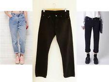 Vintage LEVIS 501 high waist mom  denim JEANS  SIZE 12 BLACK