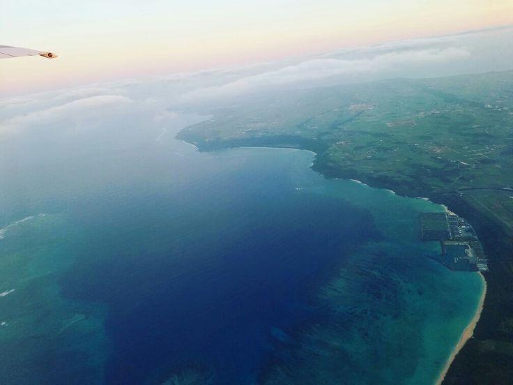 飛行機からの景色  沖縄 宮古島 okinawa miyako irabu 伊良部