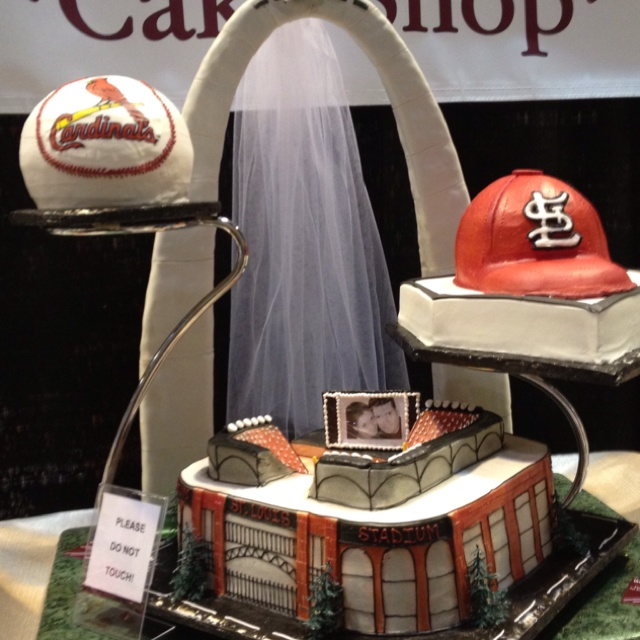 st louis cardinals cake for the groom of course