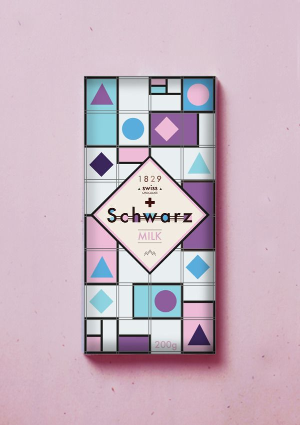 Schwarz Swiss Chocolate by Anton Deloy, via Behance great graphics and colors. Mmmm chocolate PD