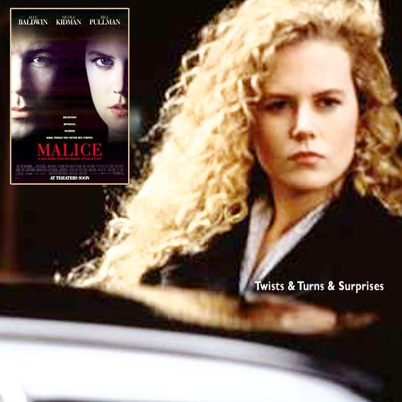 """""""Bad things happen to good people all the time, Andy, for no reason what-so-ever... """" Malice (1993), Director: Harold Becker. Stars: Alec Baldwin, Nicole Kidman, Bill Pullman, Bebe Neuwirth, George C. Scott, Anne Bancroft, Peter Gallagher, Josef Sommer, Tobin Bell."""