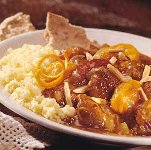 Katniss' Lamb Stew  Spices, dried apricots, and dates meld flavors for this exotic spicy-sweet stew that cooks slowly in a crockery cooker.