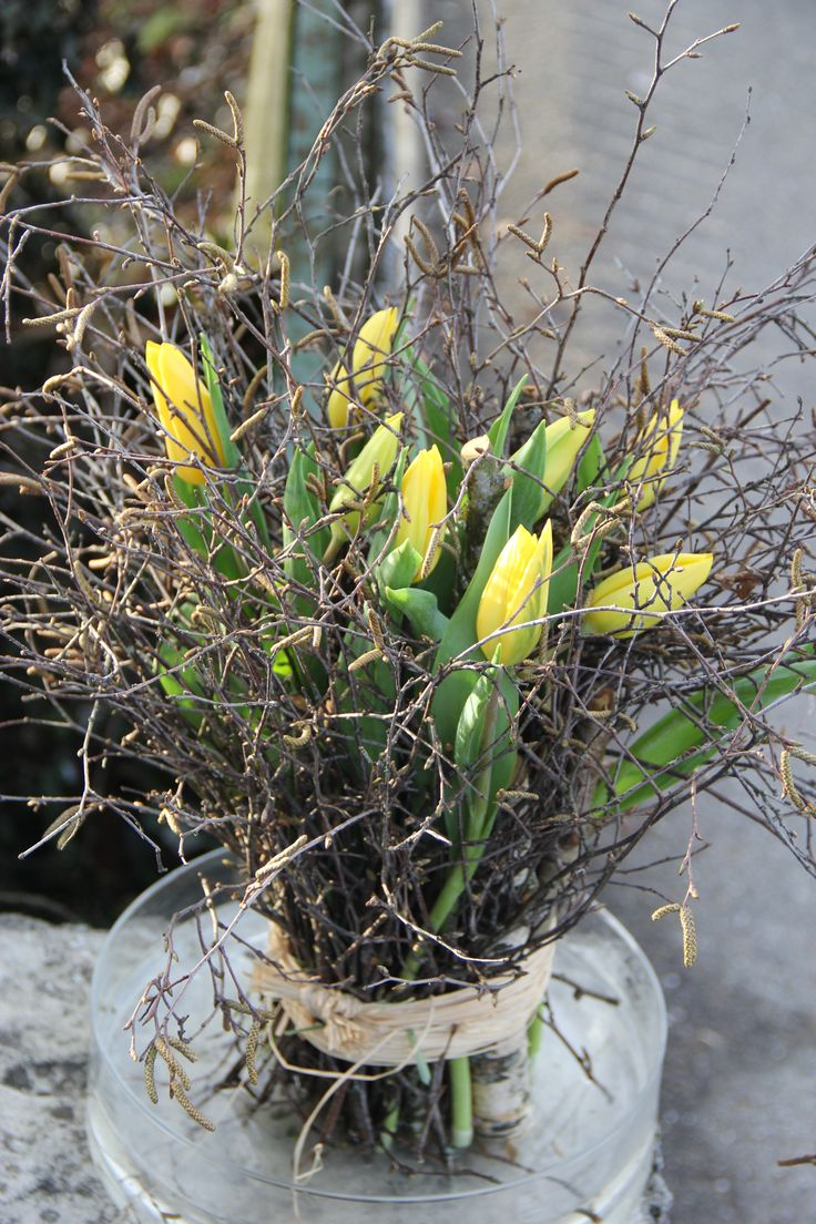 Tulpenstehstrauss in gelb Strong gold Tulpen