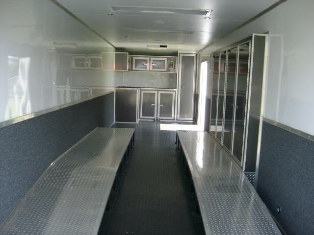 Fully Finished Race Ready Enclosed Trailer 32 Ft Triple