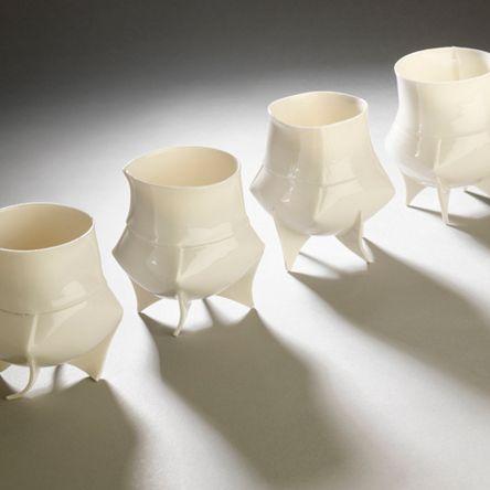 Ann Van Hoey - Ceramics - Porcelain Cups 15