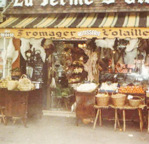 A Photograph Of Butcher Shop In The Small Town Where I Lived 1979 Loire