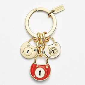 Marc Jacobs Key Chain for Women, Key Ring, Pea Green, Leather, 2017, One size