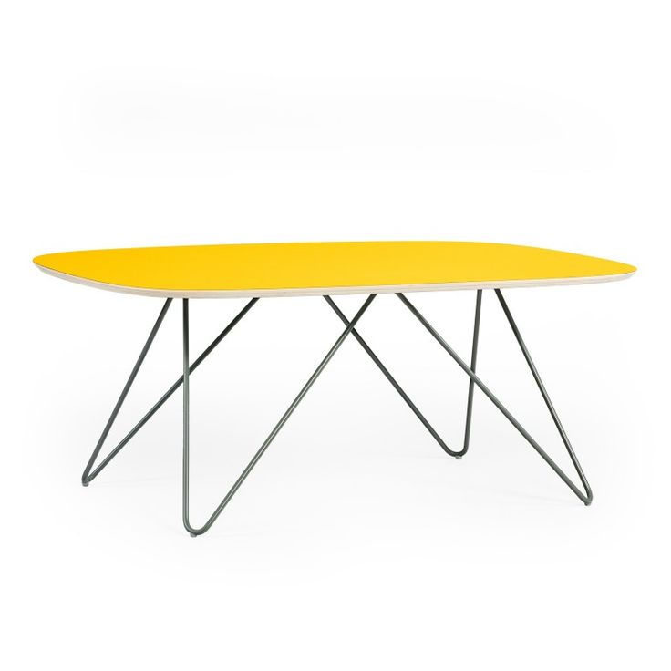 STOLIK  Kolekcja:Zig-Zag Rozmiar: 107,0 x 68,0 x 44,0 cm Kolor:Yellow Materiał:Sklejka/Stal
