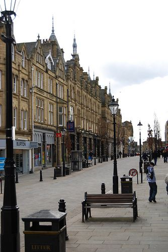 Halifax Town Centre, West Yorkshire, England