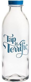 Tap Is Terrific Water Bottle - eclectic - everyday glassware - by Paper Source