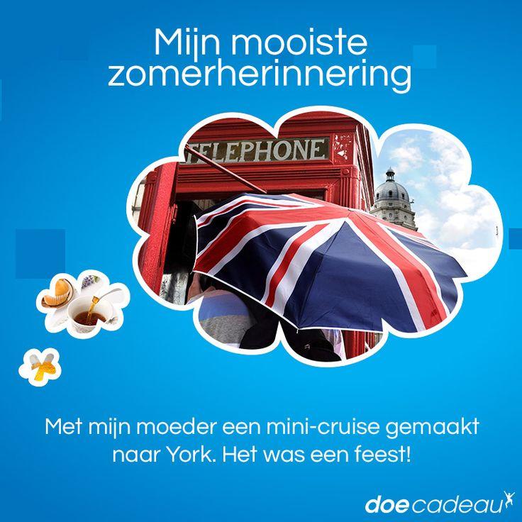 Een mini-cruise maken naar York! #zomer #zomerherinnering