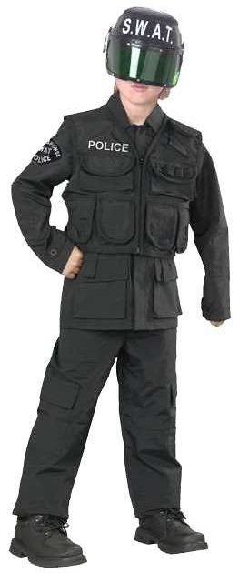 Kids SWAT Team Police Costume Police Costumes - Mr. Costumes